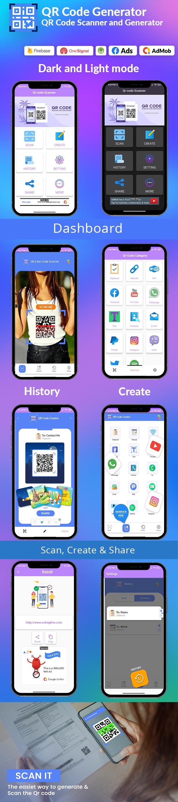 QR Code & Barcode Scanner & Generator Android | Admob, Fb, Startapp - 3